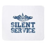 Silent Service (with Dolphins) Sherpa Fleece Throw