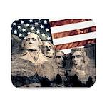 Patriotic Mount Rushmore Sherpa Fleece Throw Blank