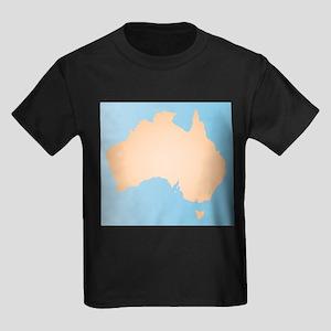 Australia Sand And Sea Silhouette T-Shirt