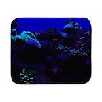Dark Coral Sherpa Fleece Throw Blanket