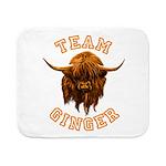 Team Ginger Scottish Highland Cow Sherpa Fleece Th