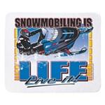 SNOWMOBILING-IS-LIFE- Sherpa Fleece Throw Blanket