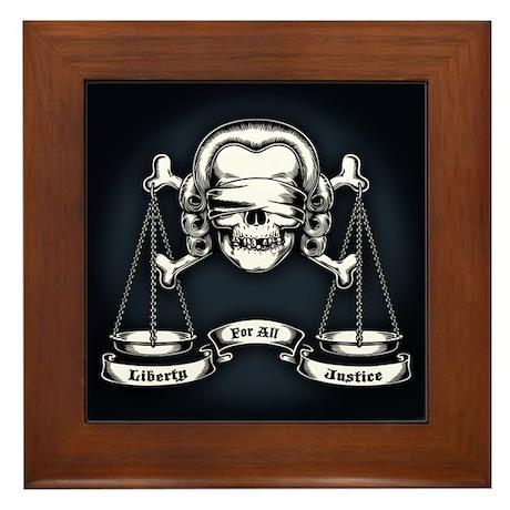 Law Pirate Framed Tile