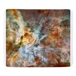 Hubble Telescope Carina Nebula Sherpa Fleece Throw