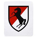 11th Armored Cavalry Sherpa Fleece Throw Blanket