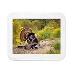 Wild Turkey Gobbler Sherpa Fleece Throw Blanket