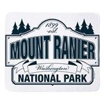 Mount Ranier National Park Blue Sign Sherpa Fleece
