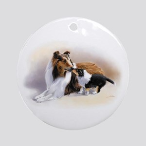 Collie Ornament (Round)