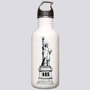 Hand Drawn Statue Of Liberty Stainless Water Bottl