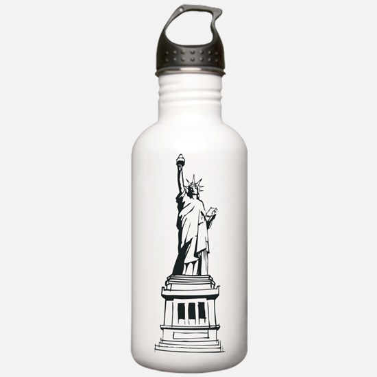 Hand Drawn Statue Of Liberty Water Bottle