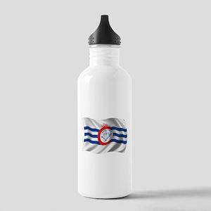 Wavy Cincinnati Flag Stainless Water Bottle 1.0L