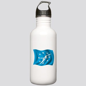 Wavy Corpus Christi Flag Stainless Water Bottle 1.