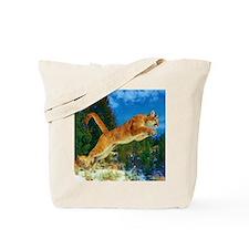 Leaping Cougar Tote Bag