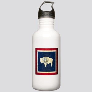 Grunge Wyoming Flag Stainless Water Bottle 1.0L