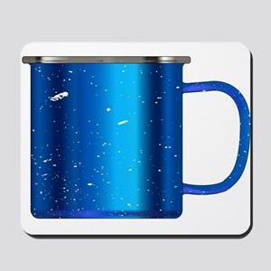 Blue Tin Cup Mousepad