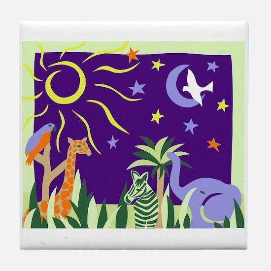 jungle animals Tile Coaster
