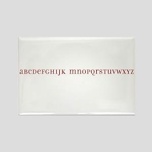 No L Alphabet Rectangle Magnet