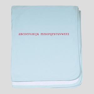 No L Alphabet baby blanket
