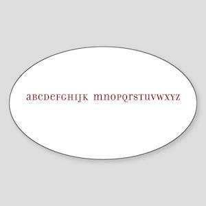 No L Alphabet Sticker (Oval)