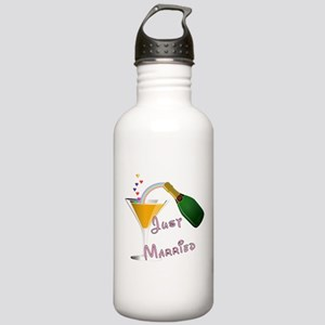 Just Married Champagne Stainless Water Bottle 1.0L