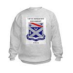 18TH INFANTRY REGIMENT - WW II Kids Sweatshirt