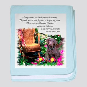 Chocolate Lab Art baby blanket