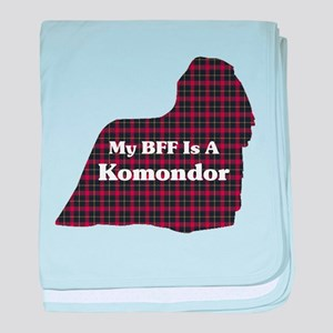 BFF Komondor baby blanket