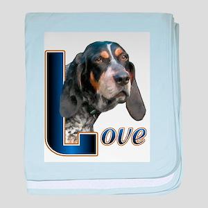 Bluetick Coonhound Love baby blanket