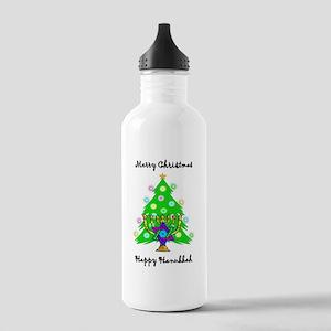 Hanukkah and Christmas Interfaith Stainless Water