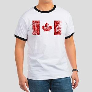 Canada Flag Pride Ringer T