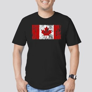 Canada Flag Pride Men's Fitted T-Shirt (dark)