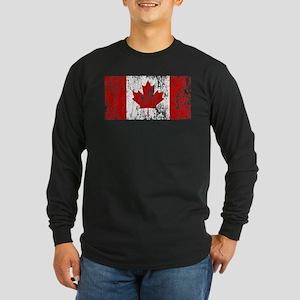 Canada Flag Pride Long Sleeve Dark T-Shirt