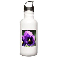 Purple Pansy Water Bottle