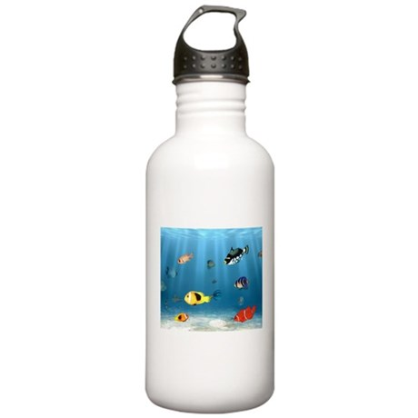 Oceans Of Fish Stainless Water Bottle 1.0L