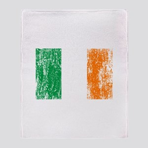 Irish Flag Pattys Drinking Throw Blanket