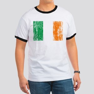 Irish Flag Pattys Drinking Ringer T