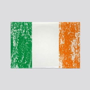 Irish Flag Pattys Drinking Rectangle Magnet