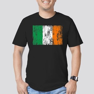 Irish Flag Pattys Drinking Men's Fitted T-Shirt (d
