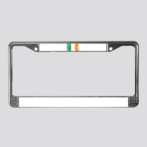 Irish Flag Pattys Drinking License Plate Frame