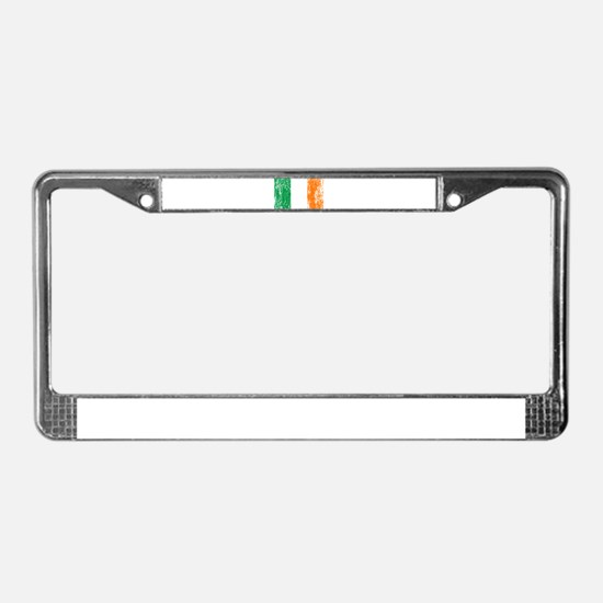 Irish Flag Pattys Drinking License Plate Frame