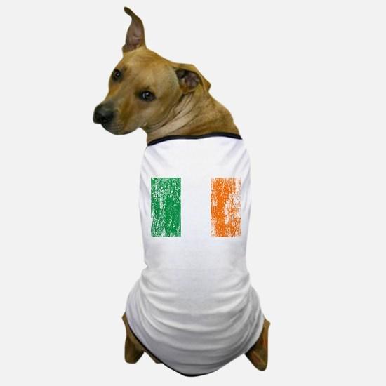 Irish Flag Pattys Drinking Dog T-Shirt