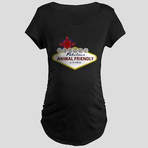 Vegas Vegan Maternity Dark T-Shirt