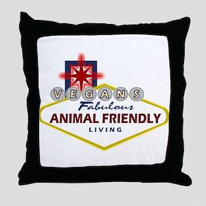 Vegas Vegan Throw Pillow
