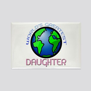 World's Greatest Daughter Rectangle Magnet