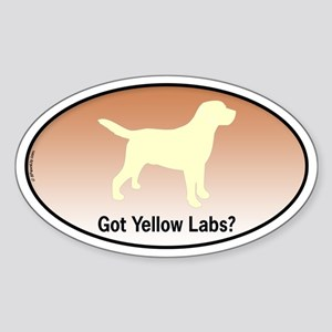 Got Yellow Labs II Oval Sticker