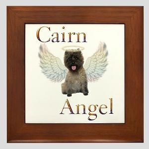 Cairn Terrier Angel Framed Tile