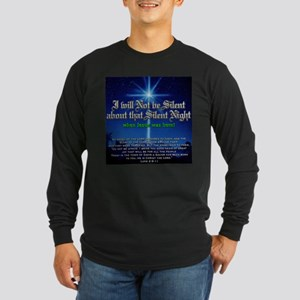 NOT b Silent about Silent Nig Long Sleeve Dark T-S