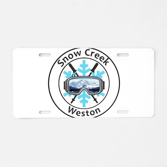 Snow Creek - Weston - Mis Aluminum License Plate
