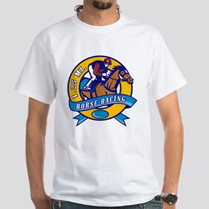 horse racing White T-Shirt