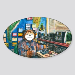 Ham Radio (Male) Oval Sticker